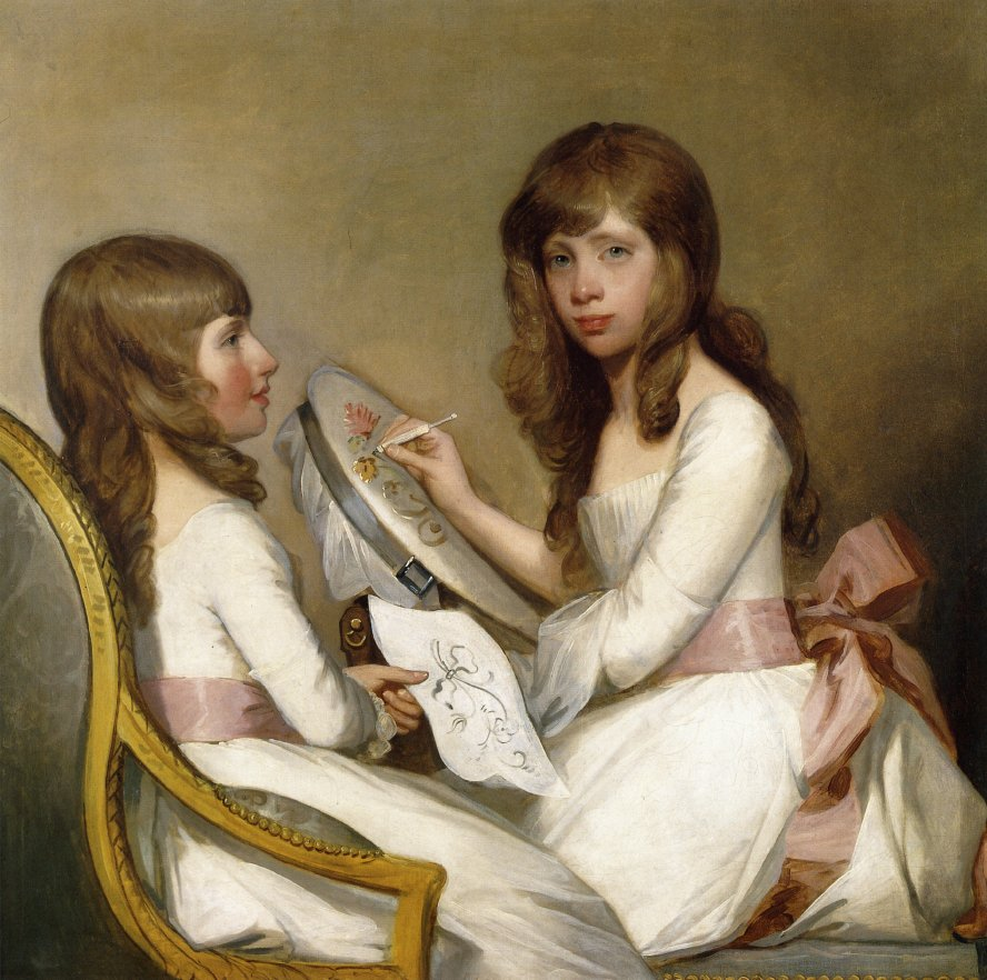 Anna Dorothea Foster and Charlotte Anna Dick 1790 1791 | Gilbert Stuart | oil painting