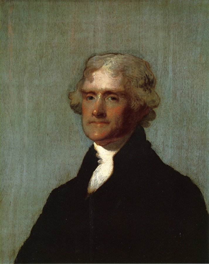 Thomas Jefferson The Edgehill Portrait 1905 1821 | Gilbert Stuart | oil painting