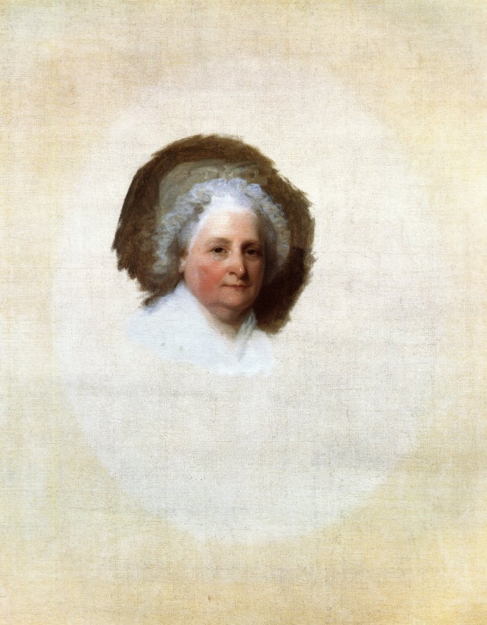 Martha Washington The Athenaeum Portrait 1796 | Gilbert Stuart | oil painting