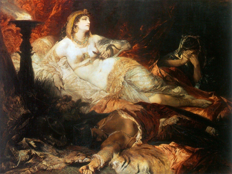 Der Tod der Kleopatra 1875 | Hans Makart | oil painting