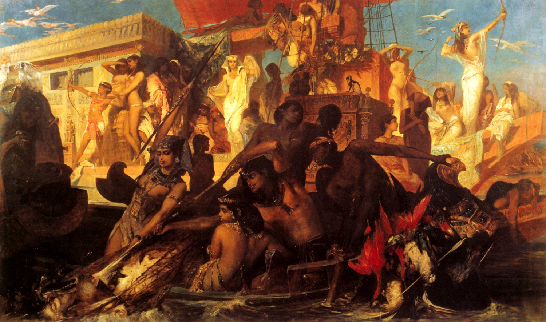 Die Niljagd der Kleopatra 1876 | Hans Makart | oil painting
