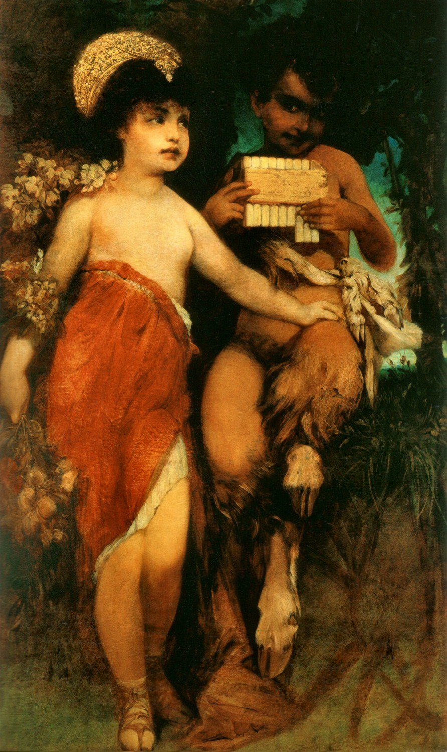 Faun und Nymph 1872 Private collection | Hans Makart | oil painting