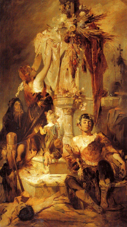 Opferszene 1880 | Hans Makart | oil painting