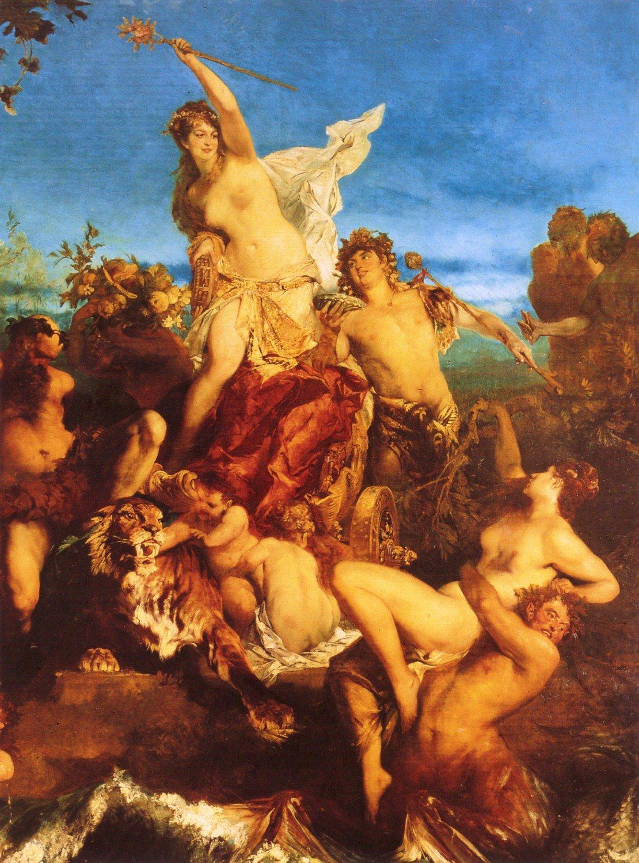 Der Triumph der Ariadne (Detail) 1874 | Hans Makart | oil painting