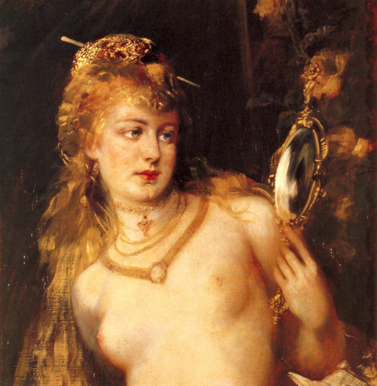Gesicht (Detail) 1879 | Hans Makart | oil painting