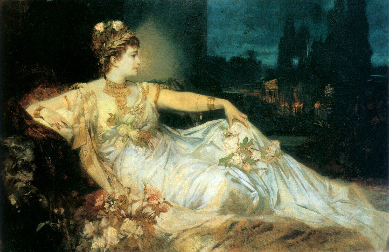 Charlotte Wolter als Messalina 1875 | Hans Makart | oil painting