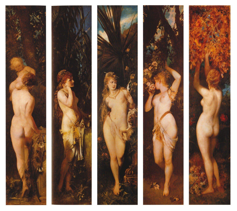 Die funf Sinne 1879 | Hans Makart | oil painting