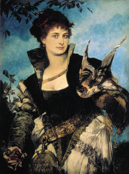 Die Falknerin 1880 | Hans Makart | oil painting