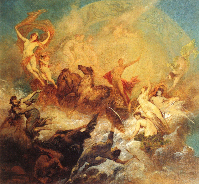 Der Sieg des Lichts Uber die Finsternis 1884 | Hans Makart | oil painting