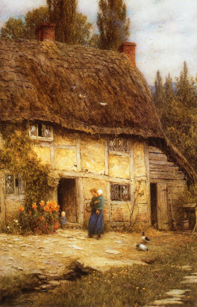 Surrey Farmhouse Date unknown | Helen Allingham | oil painting