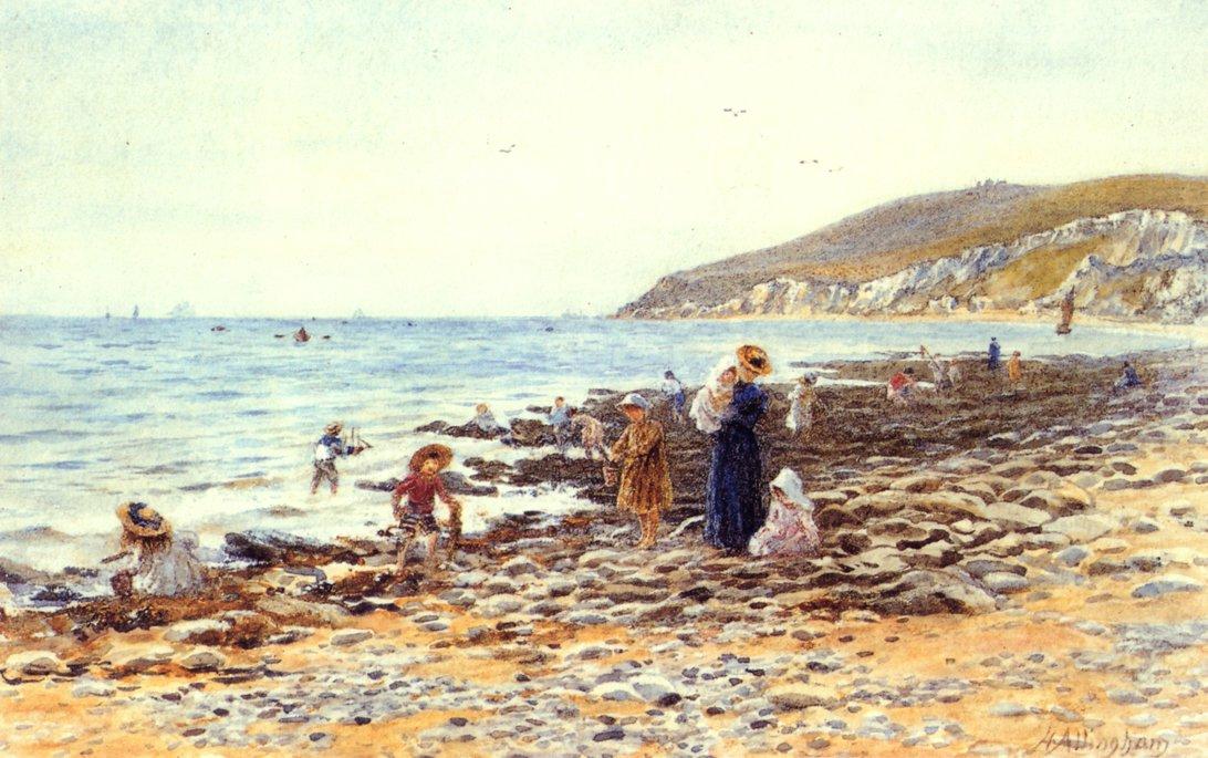 Near Beachy Head Date unknown | Helen Allingham | oil painting