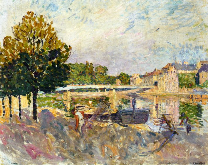 Workers on the Banks of the Marne 1907   Henri Lebasque   oil painting