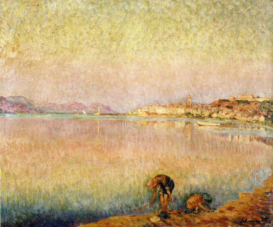 Two Children by the Water 1907 | Henri Lebasque | oil painting