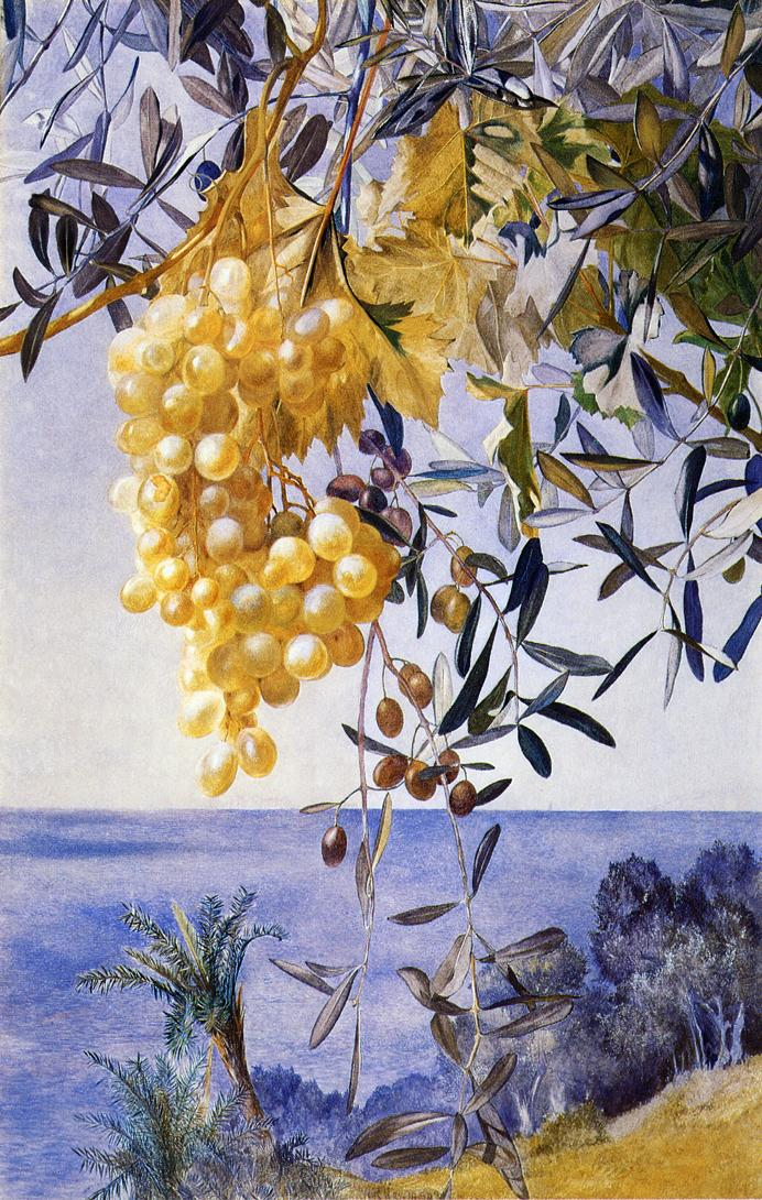 A Cluster of Grapes 1877 | Henry Roderick Newman | oil painting