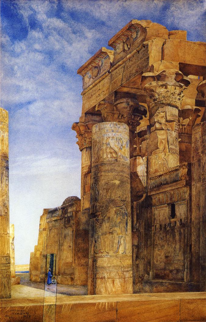 Kom Ombo 1895 | Henry Roderick Newman | oil painting