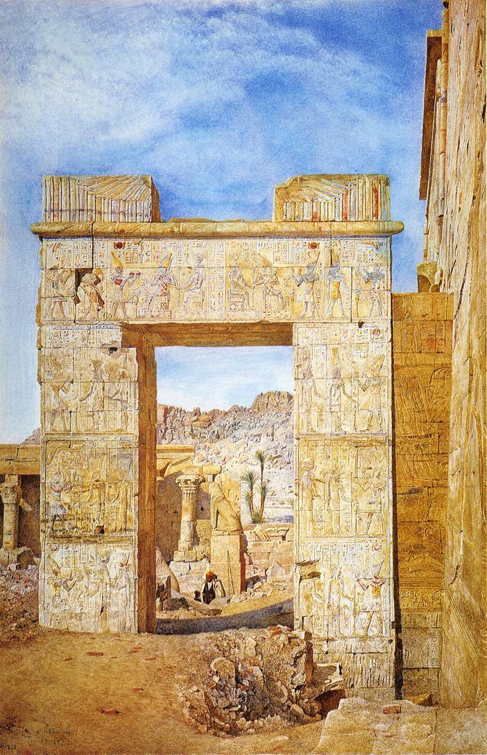 The Gateway of Philadelphus Philae 1890 | Henry Roderick Newman | oil painting