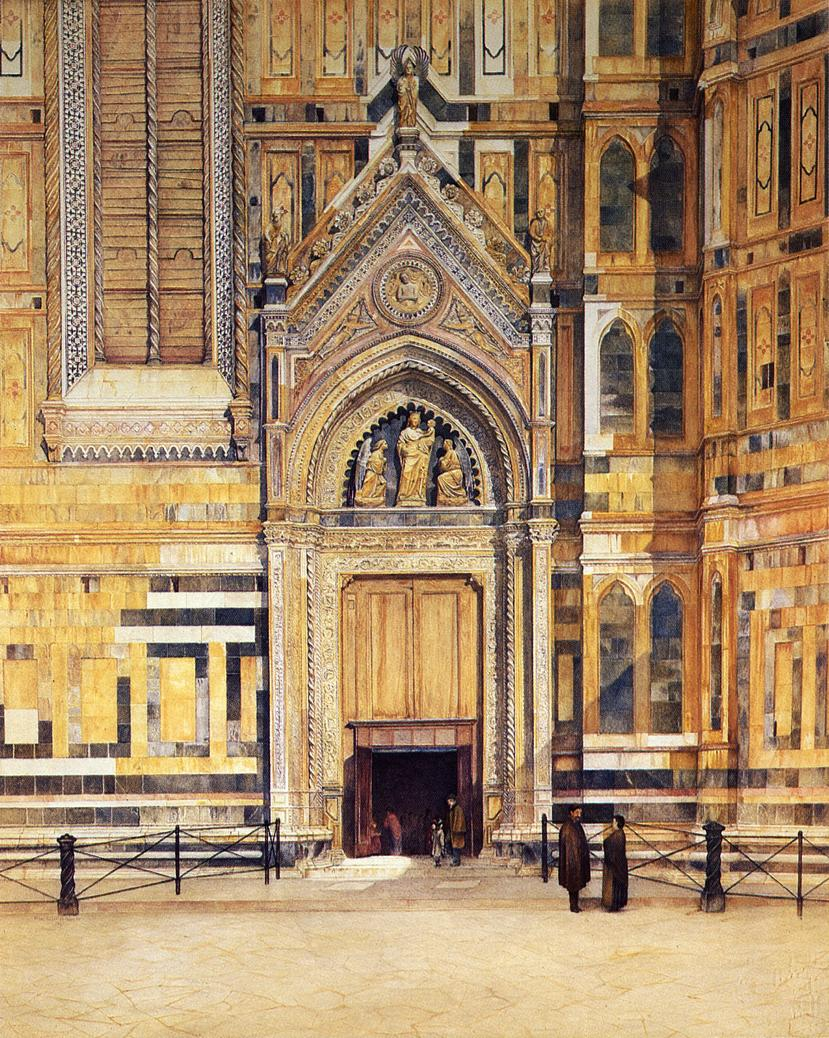 The South Door of the Duomo 1881 | Henry Roderick Newman | oil painting