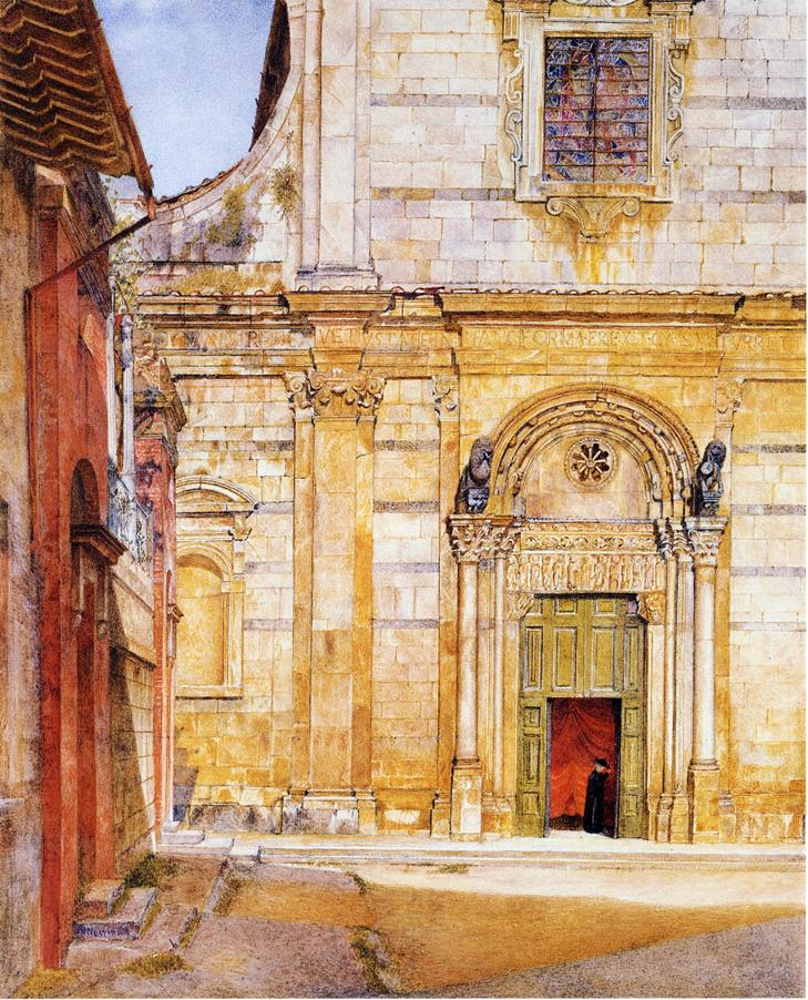 The Church of San Giovanni Luca 1885 | Henry Roderick Newman | oil painting