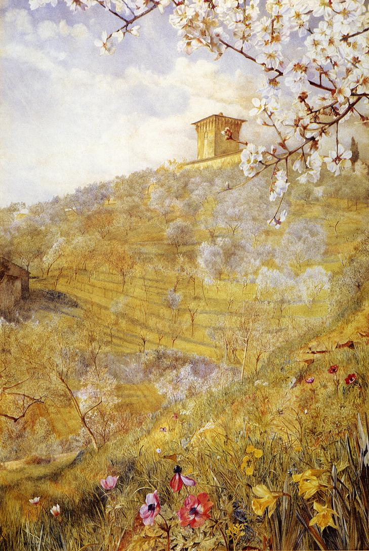 The Villa di Bellosguardo 1887 | Henry Roderick Newman | oil painting