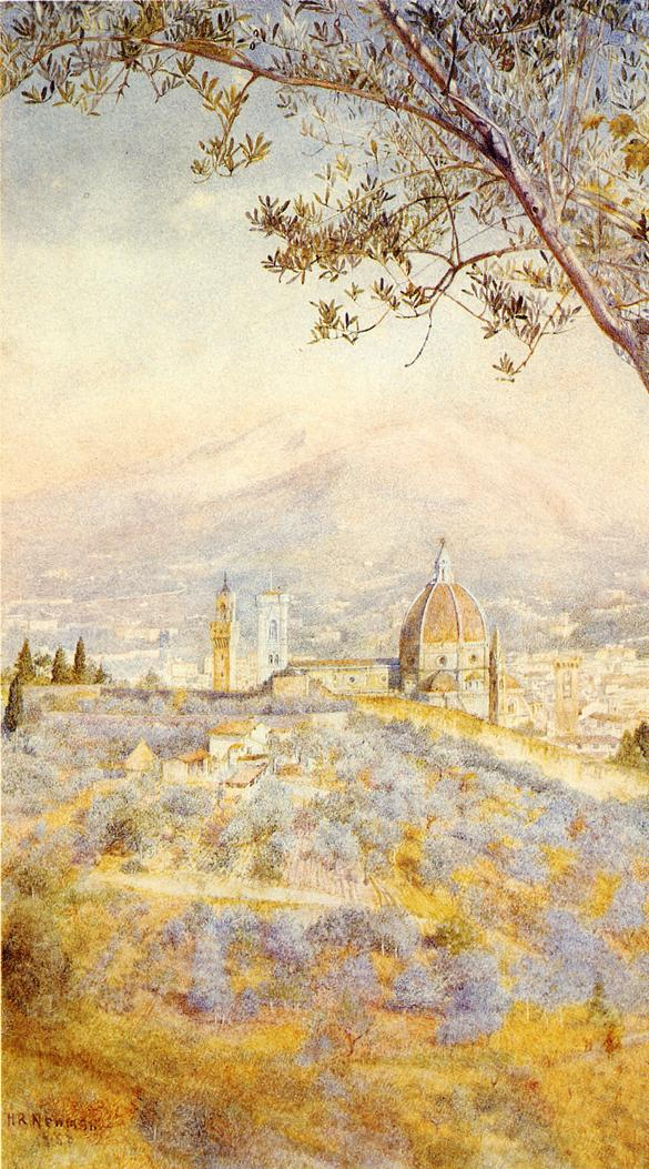 View of Florence from the East 1888 | Henry Roderick Newman | oil painting