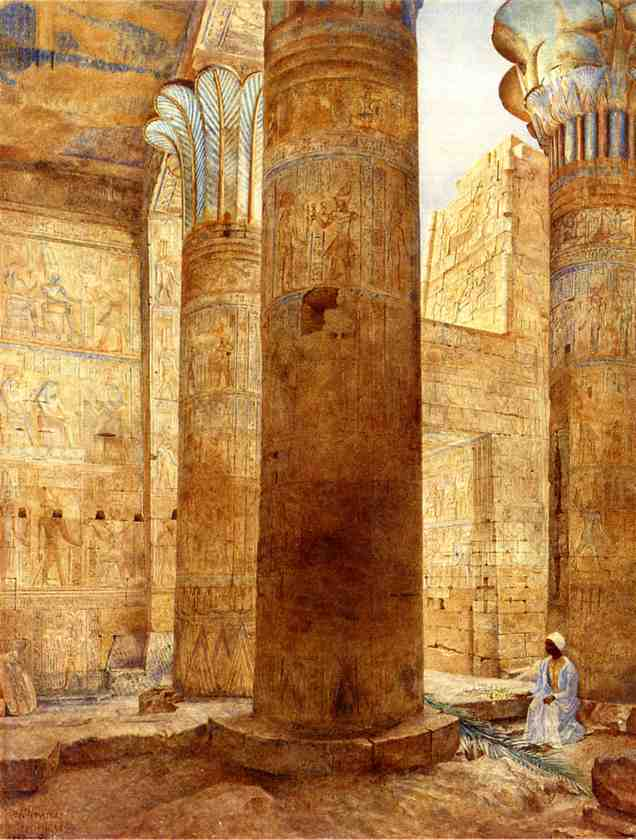 Temple of Philae Nubia 1893 | Henry Roderick Newman | oil painting