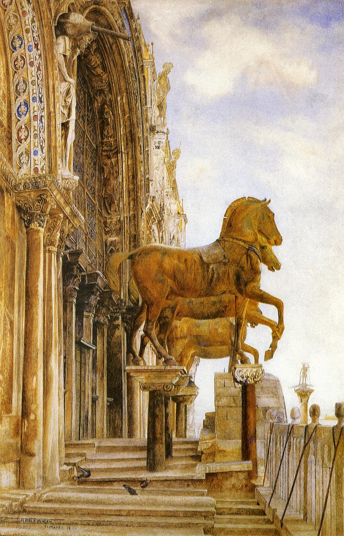 The Horses of St. Mark's 1890 | Henry Roderick Newman | oil painting