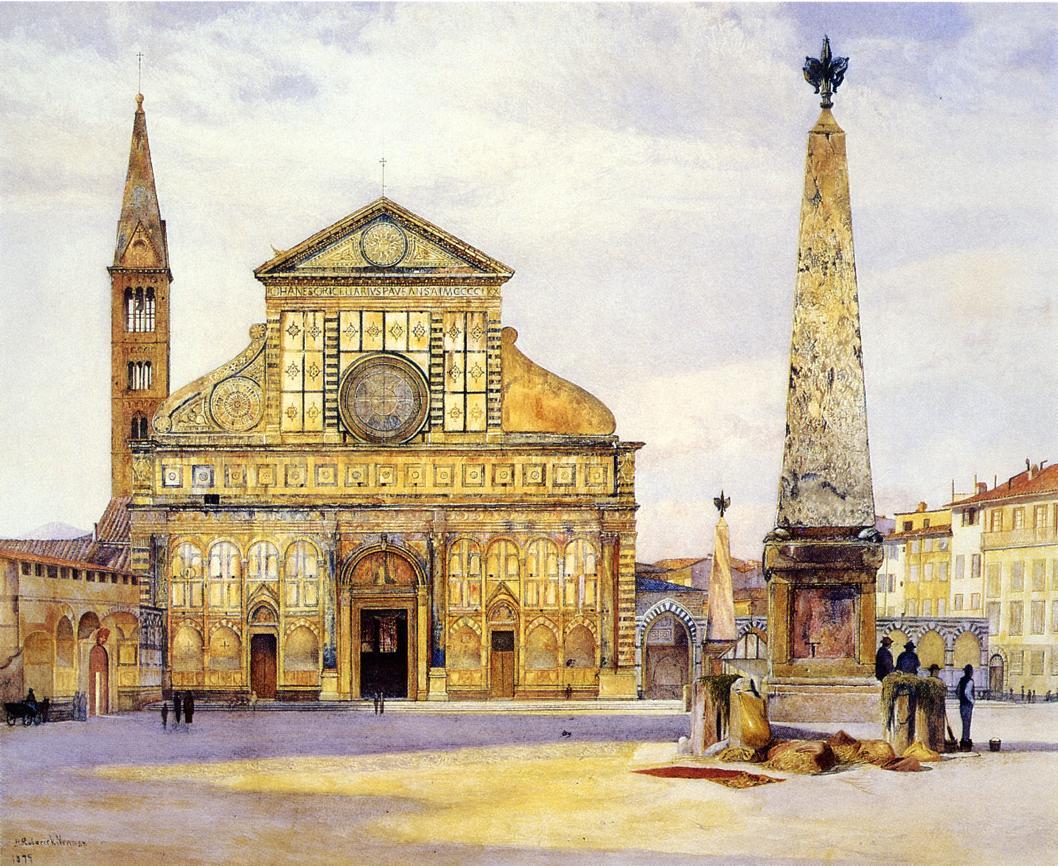 View of Santa Maria Novella 1877 | Henry Roderick Newman | oil painting