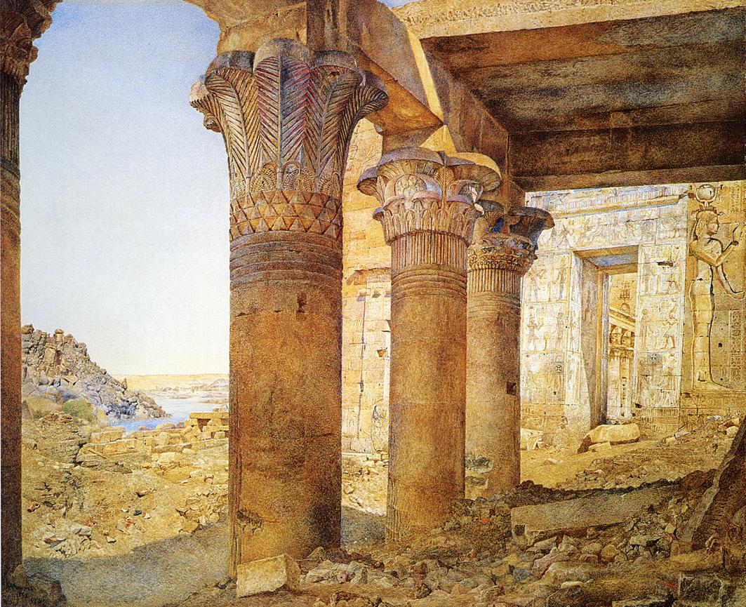 Temple of Philae from the Outer Court 1892 | Henry Roderick Newman | oil painting