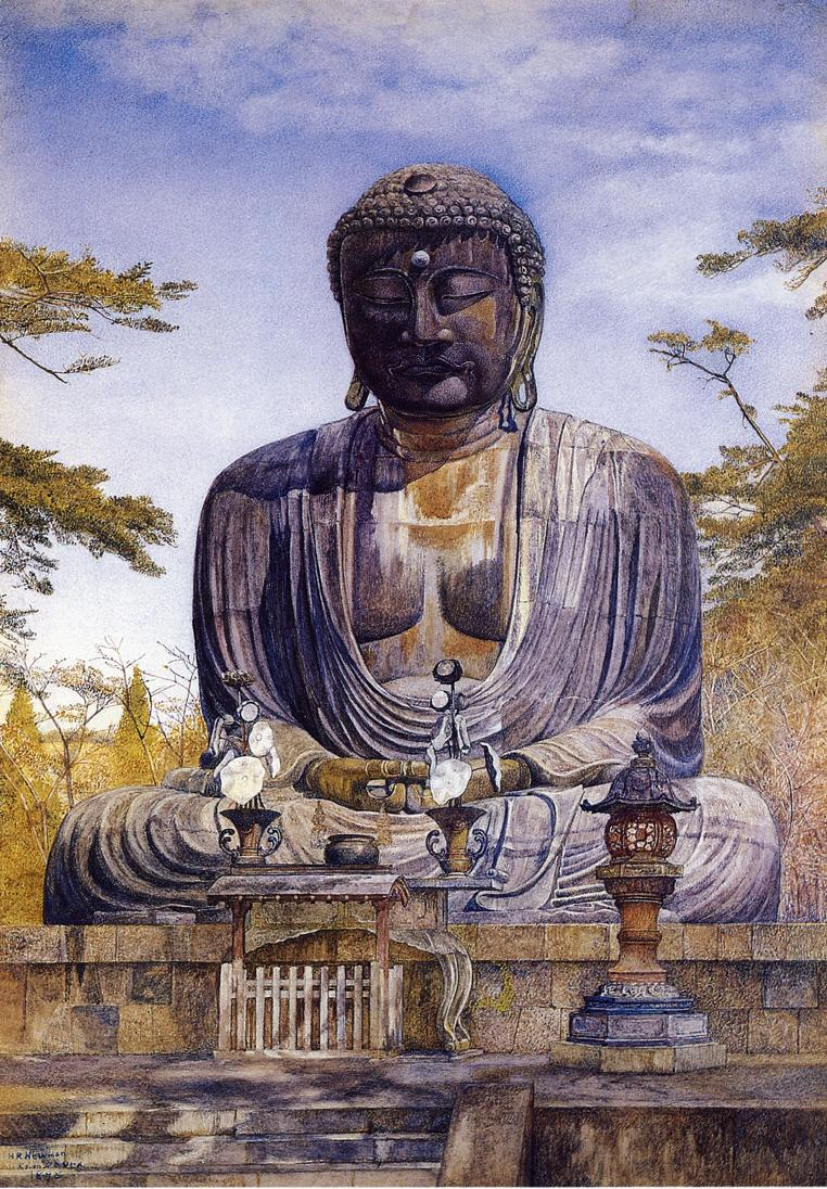 Daibutsu at Kamakura Japan 1898 | Henry Roderick Newman | oil painting