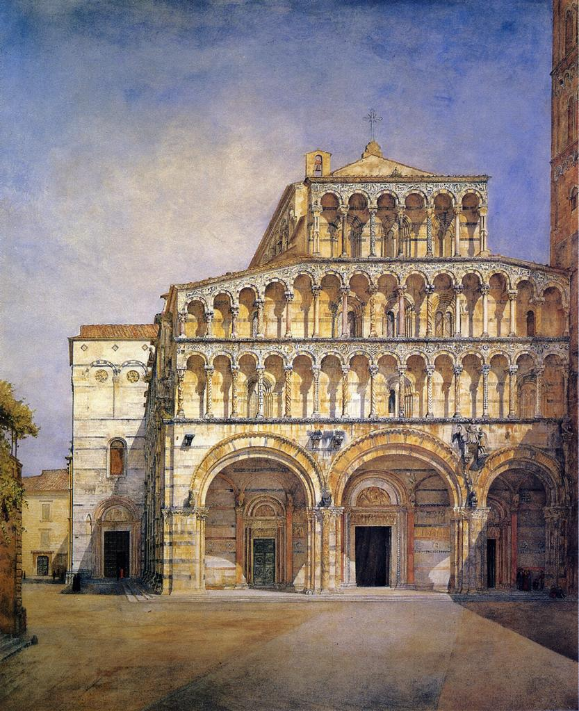 The Facade of the Duomo at Lucca 1885 | Henry Roderick Newman | oil painting