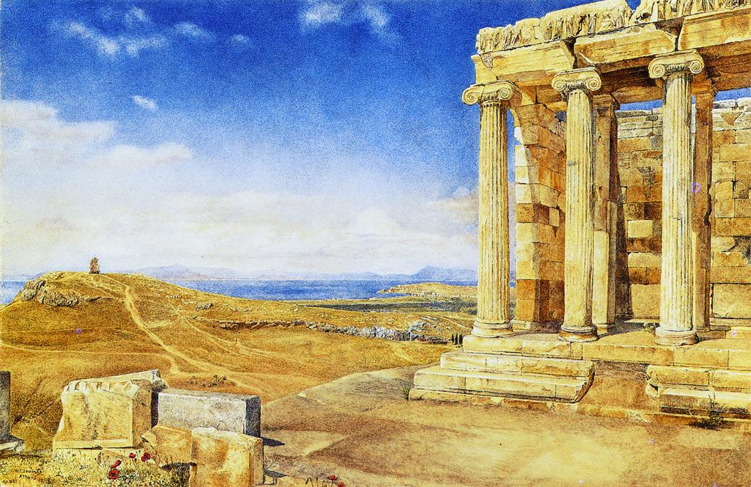 The Temple of Athena Nike on nthe Acropolis 1893 | Henry Roderick Newman | oil painting