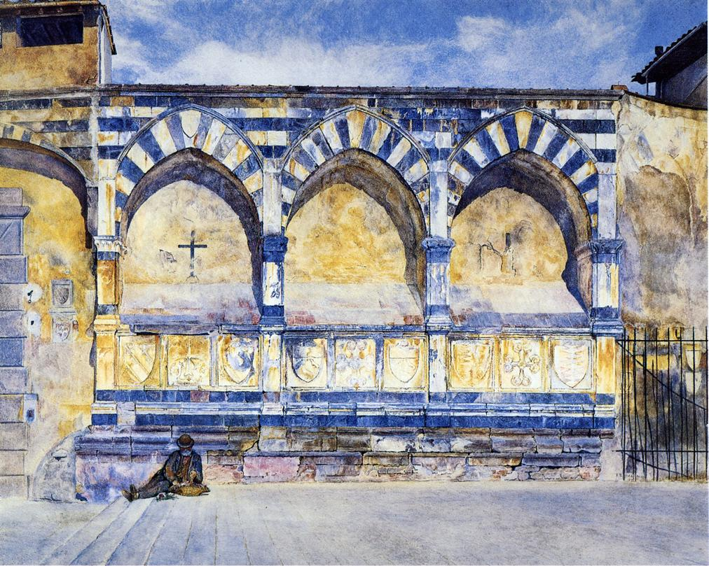 The Three Arches of Santa Maria Novella 1877 | Henry Roderick Newman | oil painting