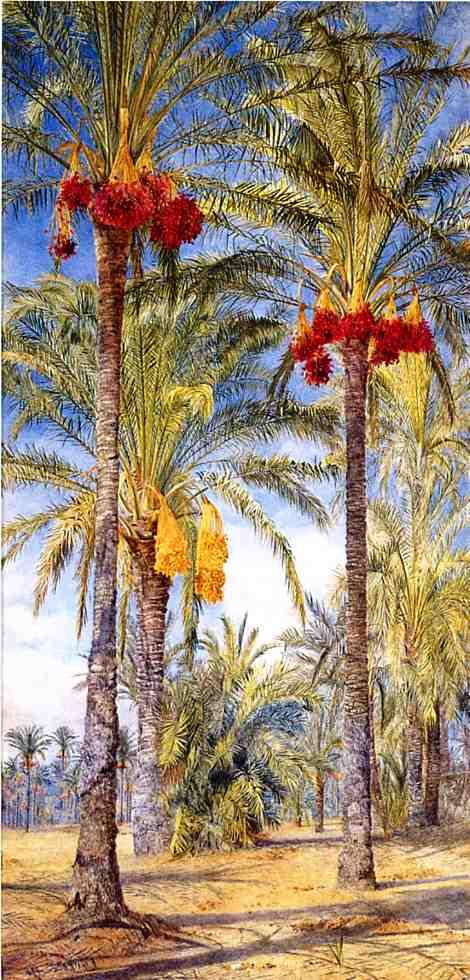 Date Trees Ramleh Egypt 1889 | Henry Roderick Newman | oil painting