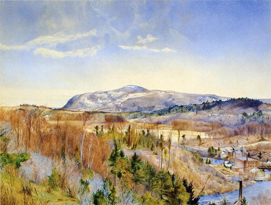 Mt. Everett from Monument Mountain in April 1867 | Henry Roderick Newman | oil painting