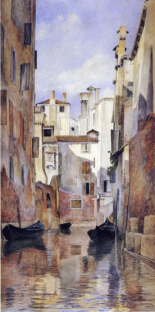 Venetian Canal Scene 1871 | Henry Roderick Newman | oil painting