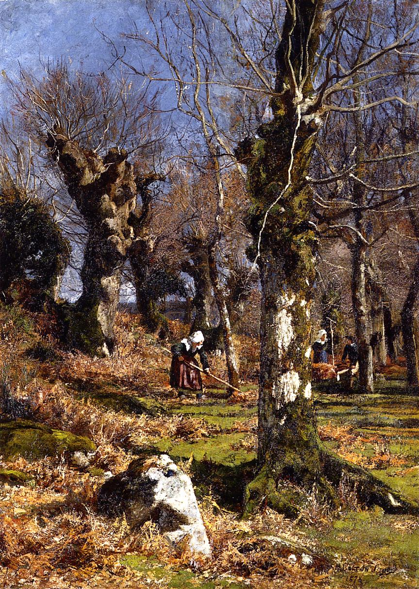 Gathering Leaves | Hugh Bolton James | oil painting