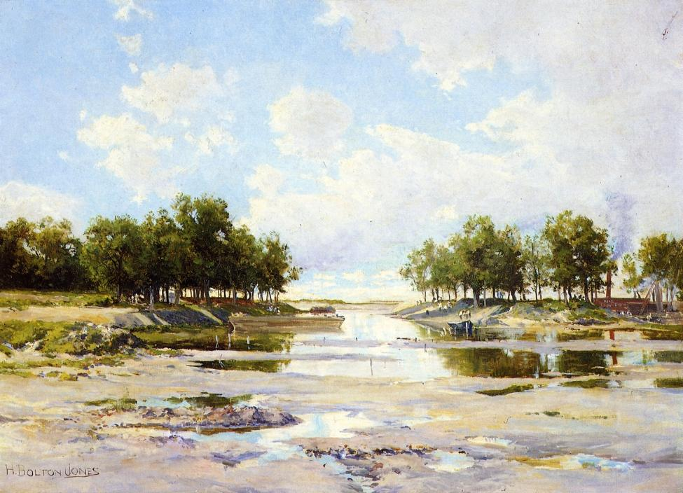 Inlet at Low Tide | Hugh Bolton James | oil painting