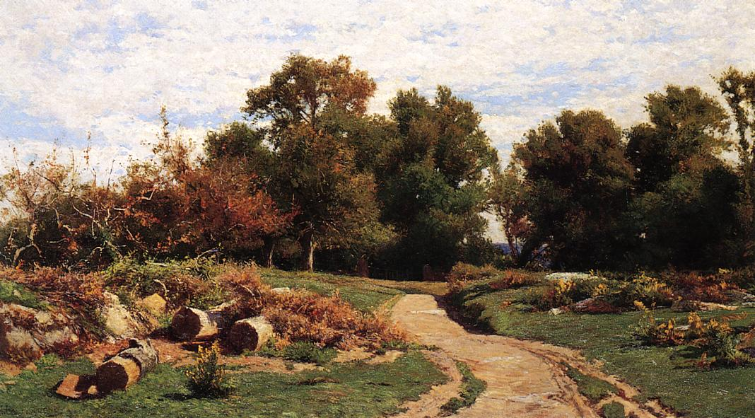 A Country Path in Summer Date unknown | Hugh Bolton Jones | oil painting