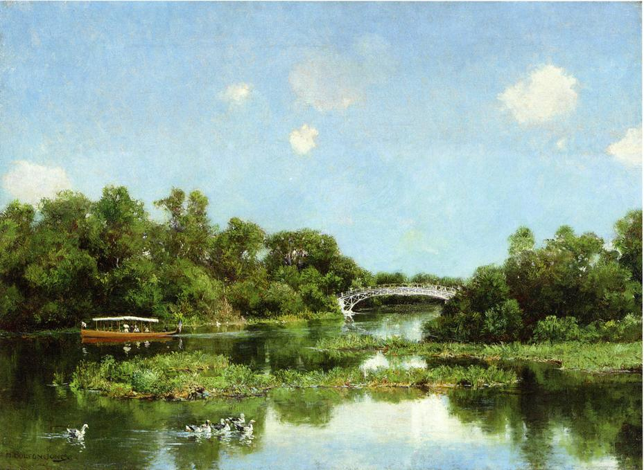 South End of Wooded Island (aka View of Transportation Terrace) 1893 | Hugh Bolton Jones | oil painting