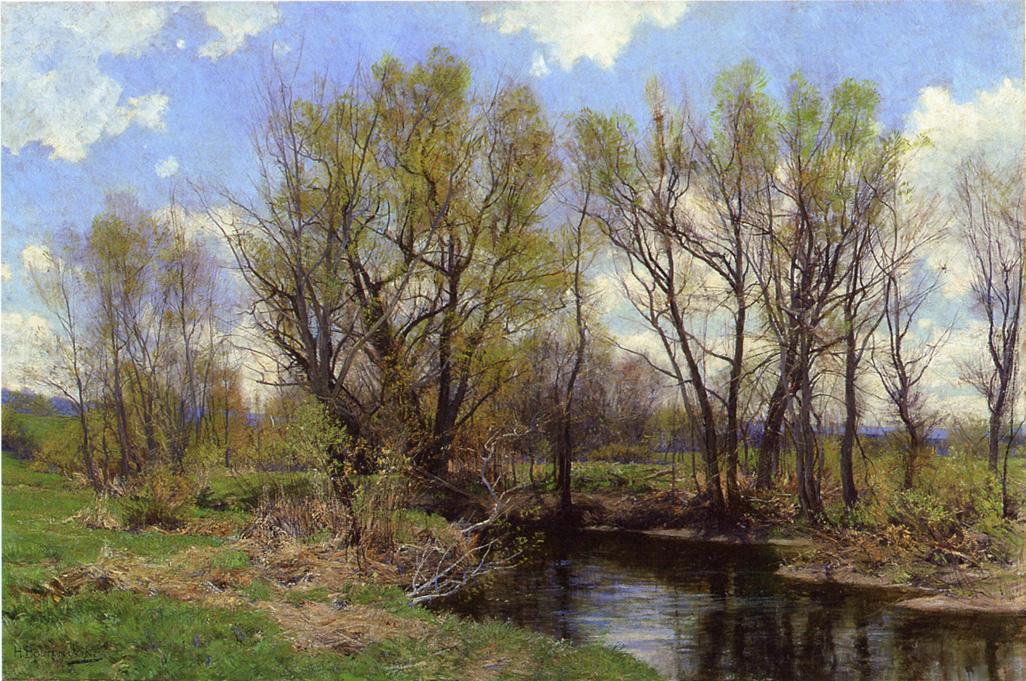 Early Spring Near Sheffield Massachusetts 1898 | Hugh Bolton Jones | oil painting