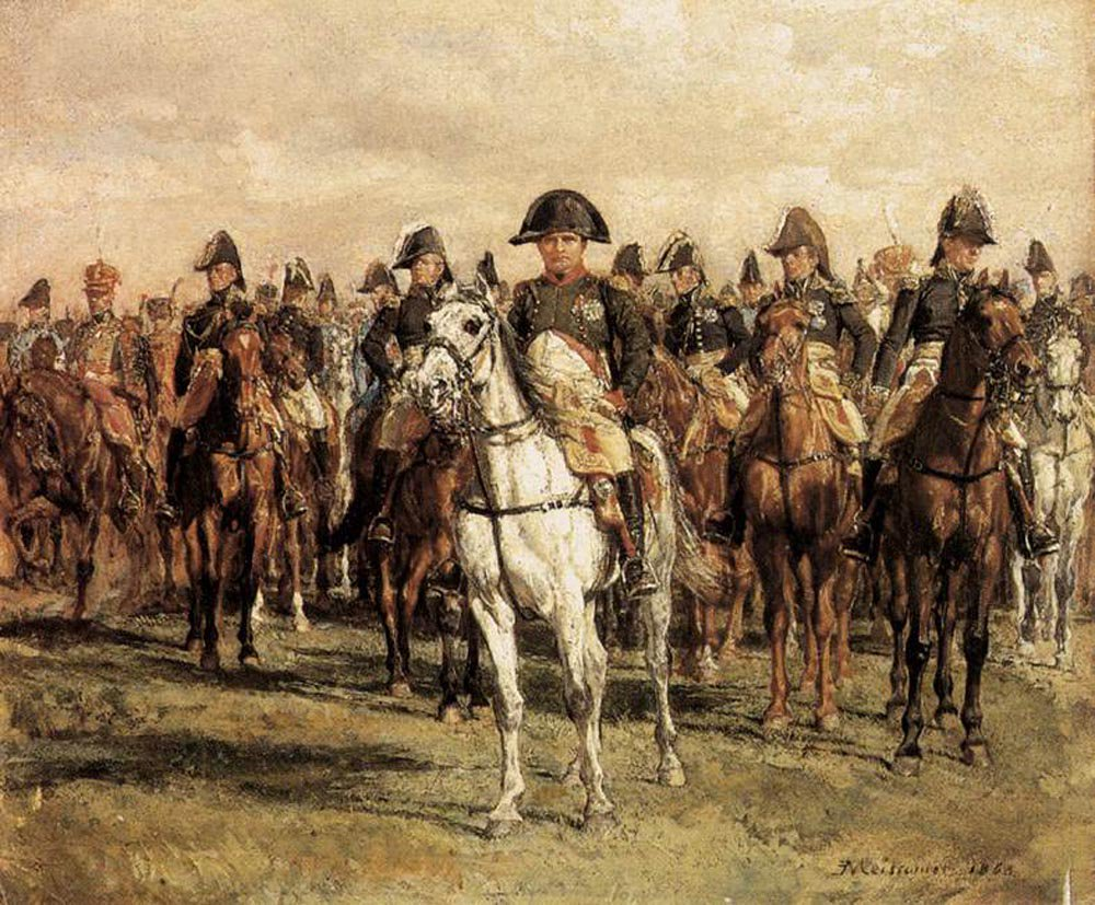 Napoleon and his Staff | Jean Louis Ernest Meissonier | oil painting