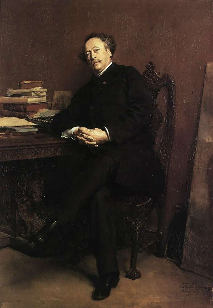 Portrait of Alexandre Dumas Jr | Jean Louis Ernest Meissonier | oil painting