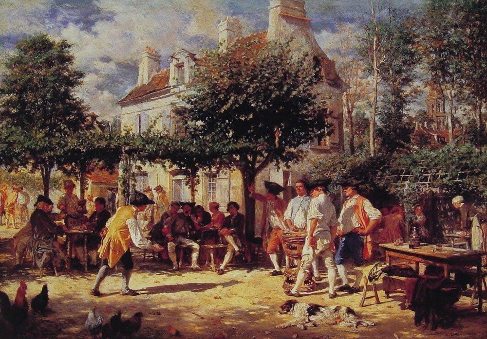 Sunday in Poissy   Jean Louis Ernest Meissonier   oil painting
