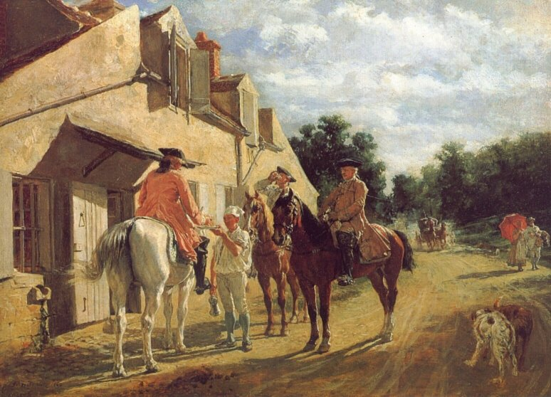 At the Relay Station | Jean Louis Ernest Meissonier | oil painting