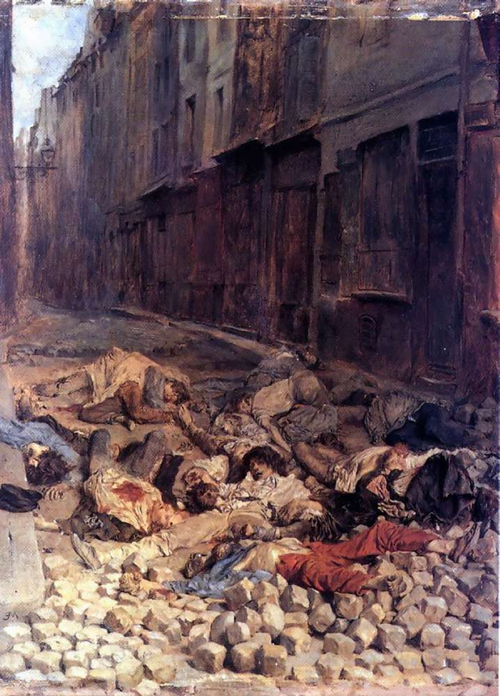 The Barricade | Jean Louis Ernest Meissonier | oil painting