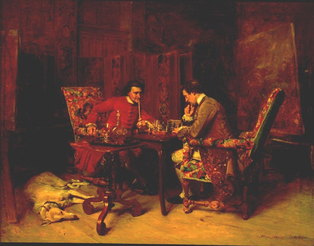 Chess Players | Jean Louis Ernest Meissonier | oil painting