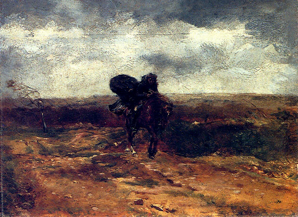 Coup De Vent | Jean Louis Ernest Meissonier | oil painting