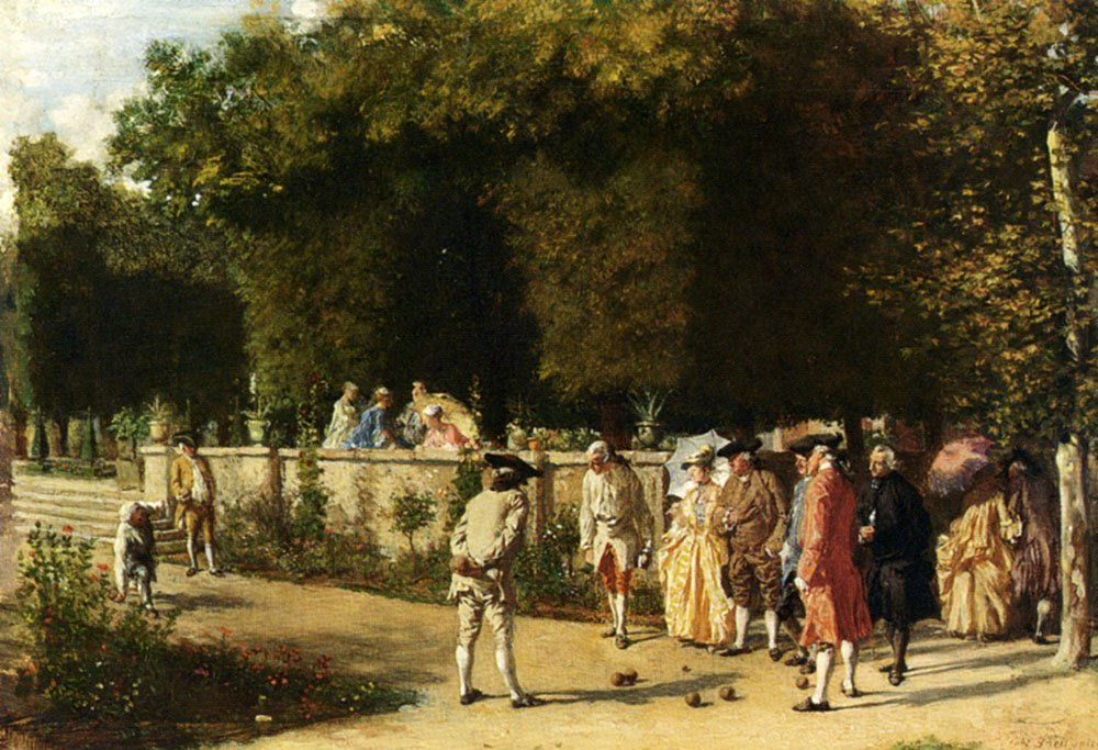 Playing Jeu De Boules | Jean Louis Ernest Meissonier | oil painting