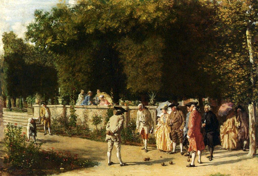 Playing Jeu De Boules | Jean Louis Ernest Meissonier | oil painting