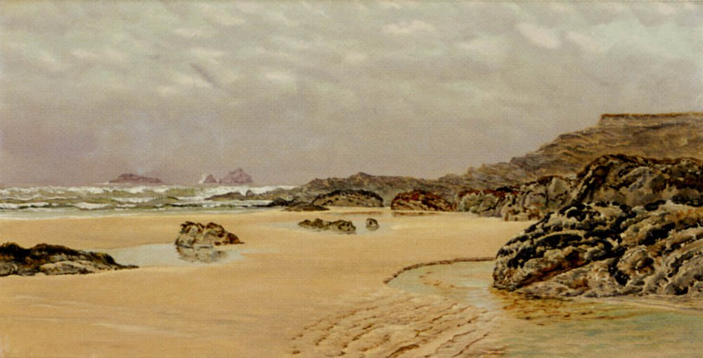 A View Of Treyarnon Bay | John Brett | oil painting